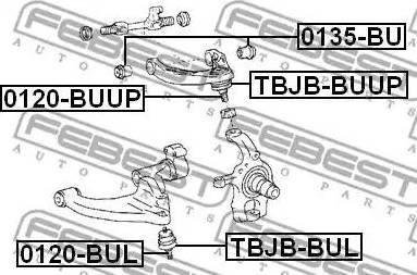 Febest 0135BU - Support, control arm detali.lv