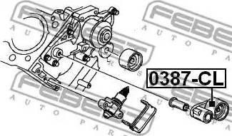 Febest 0387CL - Tensioner Pulley, timing belt detali.lv