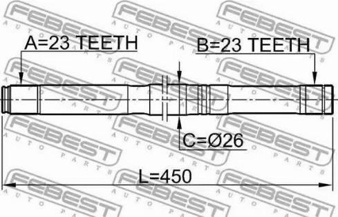 Febest 0212QG16LH - Drive Shaft detali.lv