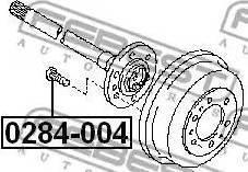 Febest 0284004 - Wheel Stud detali.lv