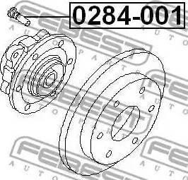 Febest 0284001 - Wheel Stud detali.lv