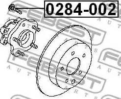 Febest 0284002 - Wheel Stud detali.lv