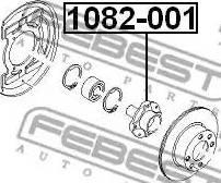 Febest 1082001 - Wheel Hub detali.lv