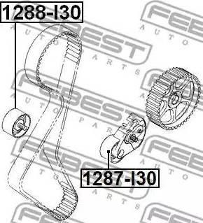 Febest 1287I30 - Tensioner Pulley, timing belt detali.lv