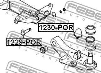 Febest 1229POR - Camber Correction Screw detali.lv