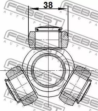 Febest 2116CA1R - Tripod Hub, Drive shaft detali.lv