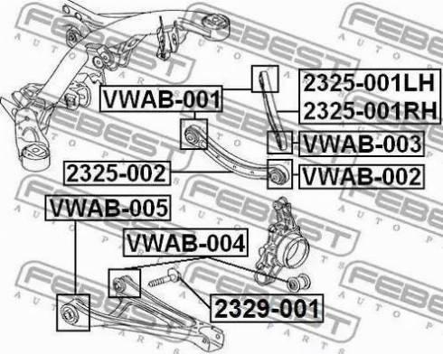 Febest 2329001 - Camber Correction Screw detali.lv