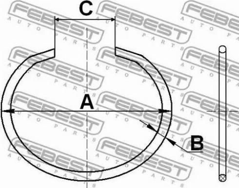 Febest CC528X2 - Mounting Set, driveshaft bellow detali.lv