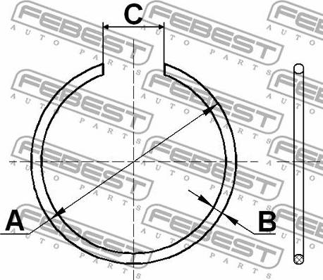 Febest CC129X2 - Mounting Set, driveshaft bellow detali.lv