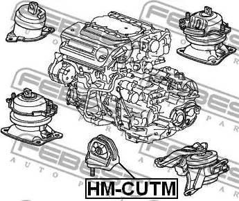 Febest HMCUTM - Mounting, automatic transmission detali.lv