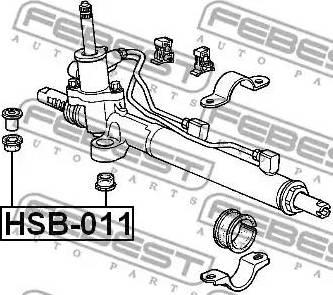 Febest HSB011 - Mounting, steering gear detali.lv