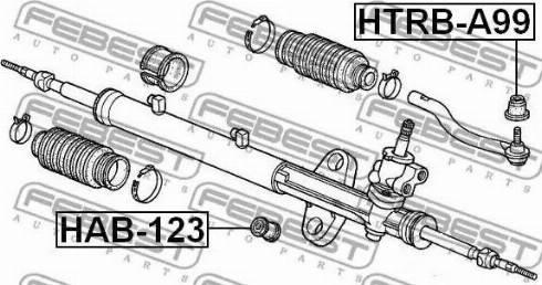 Febest HTRBA99 - Repair Kit, tie rod end detali.lv