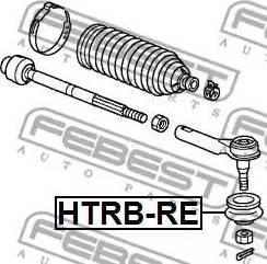 Febest HTRBRE - Repair Kit, tie rod end detali.lv