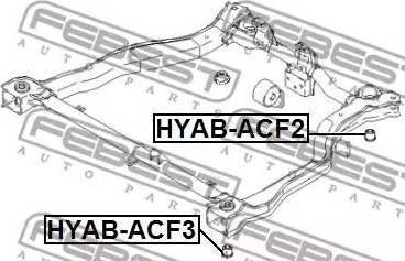 Febest HYABACF3 - Mounting, axle beam detali.lv