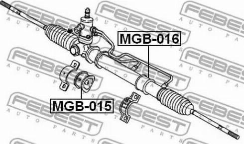 Febest MGB016 - Mounting, steering gear detali.lv