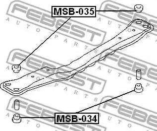 Febest MSB034 - Mounting, axle beam detali.lv
