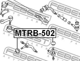 Febest MTRB502 - Repair Kit, tie rod end detali.lv