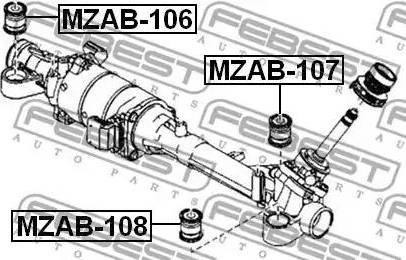 Febest MZAB108 - Mounting, steering gear detali.lv