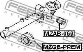 Febest MZGBPREM - Mounting, steering gear detali.lv