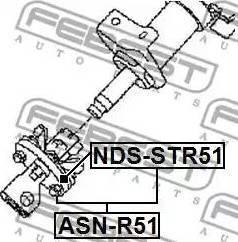 Febest NDSSTR51 - Steering Column Coupling detali.lv