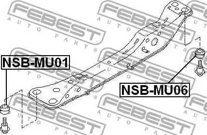 Febest NSBMU06 - Mounting, axle beam detali.lv