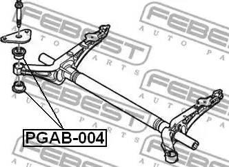 Febest PGAB004 - Mounting, axle beam detali.lv