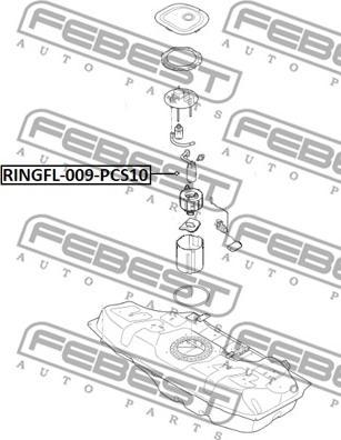 Febest RINGFL009PCS10 - Seal, fuel sender unit detali.lv