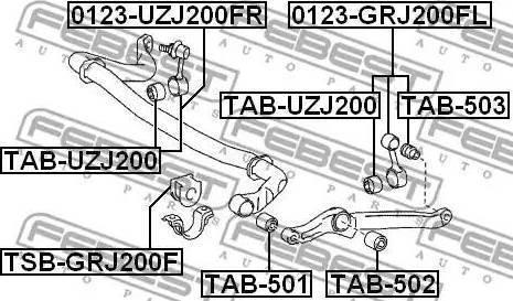Febest TAB503 - Tie Bar Bush detali.lv