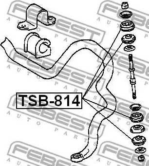 Febest TSB814 - Tie Bar Bush detali.lv