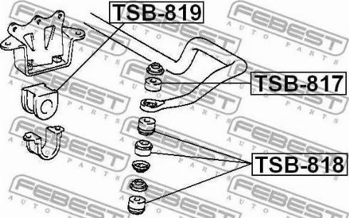 Febest TSB817 - Tie Bar Bush detali.lv