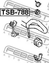 Febest TSB788 - Tie Bar Bush detali.lv
