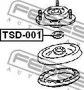 Febest TSD001 - Mounting, shock absorbers detali.lv