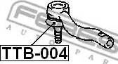 Febest TTB004 - Repair Kit, tie rod end detali.lv