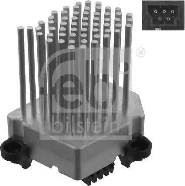 Febi Bilstein 31966 - Control Unit, air conditioning detali.lv