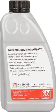 Febi Bilstein 29449 - Automatic Transmission Oil detali.lv
