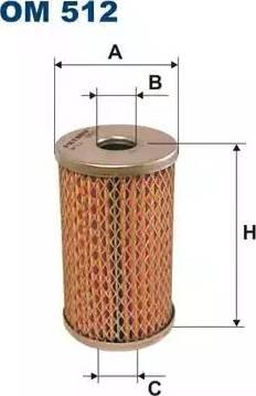 Filtron OM512 - Filter, operating hydraulics detali.lv