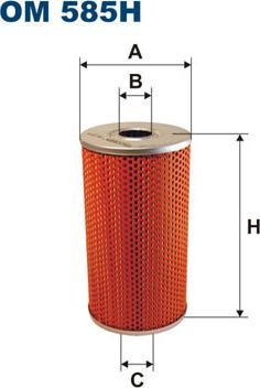 Filtron OM585H - Filter, operating hydraulics detali.lv