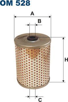 Filtron OM528 - Filter, operating hydraulics detali.lv
