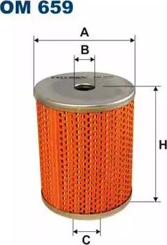 Filtron OM659 - Hydraulic Filter, automatic transmission detali.lv