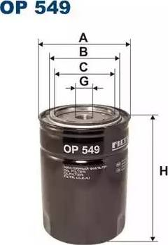 Filtron OP549 - Filter, operating hydraulics detali.lv