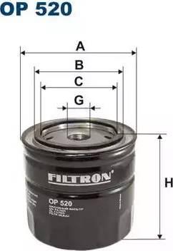 Filtron OP520 - Filter, operating hydraulics detali.lv