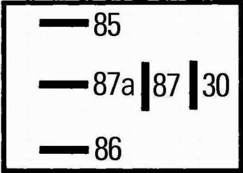 HELLA 4RD965453041 - Relay, fuel preheater detali.lv