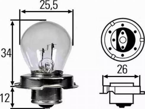 HELLA 8GA008899121 - Bulb, spotlight detali.lv