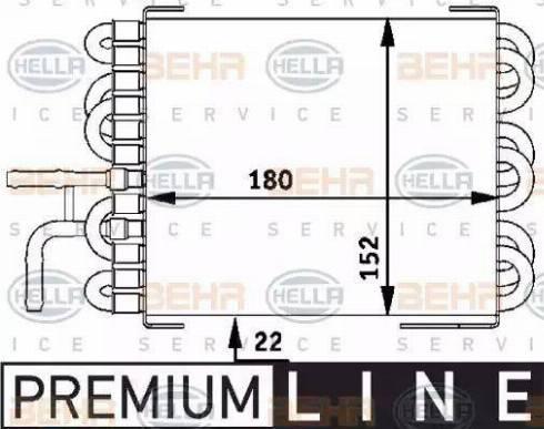 HELLA 8MK376717401 - Fuel radiator detali.lv