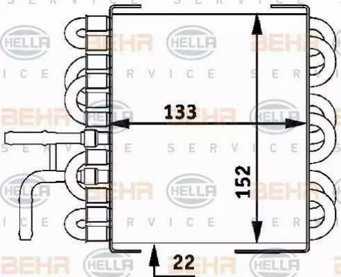 HELLA 8MK 376 717-411 - Fuel radiator detali.lv
