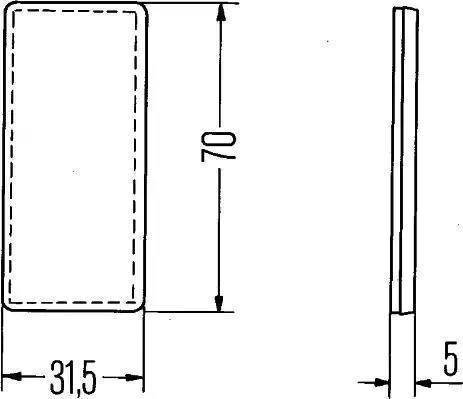 HELLA 8RA004412021 - Reflex Reflector detali.lv