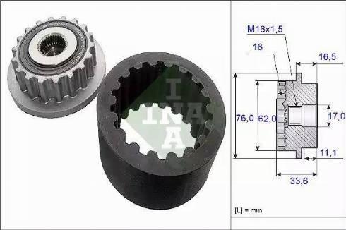 INA 535018610 - Flexible Coupling Sleeve Kit detali.lv
