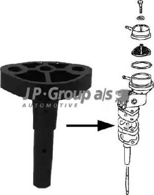 JP Group 8115250200 - Flange, fuel feed unit detali.lv