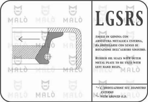 Malò 866RSSI - Shaft Seal, crankshaft detali.lv