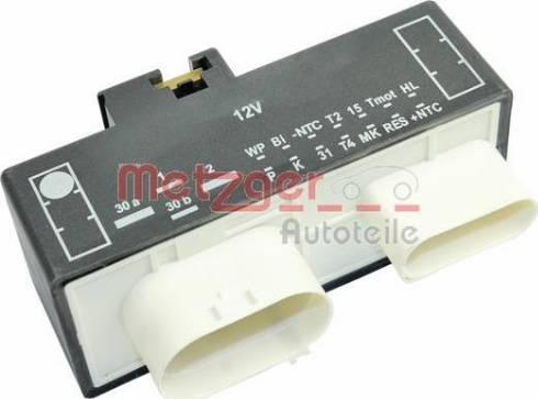 Metzger 0917284 - Control Unit, electric fan (engine cooling) detali.lv